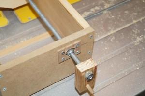 Box joint jig prototype closeup