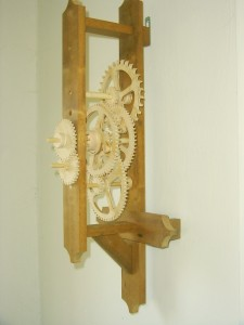 The frame with gears