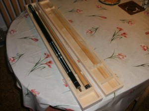 Unfinished pool cue case