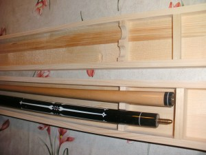 Unfinished pool cue case 2