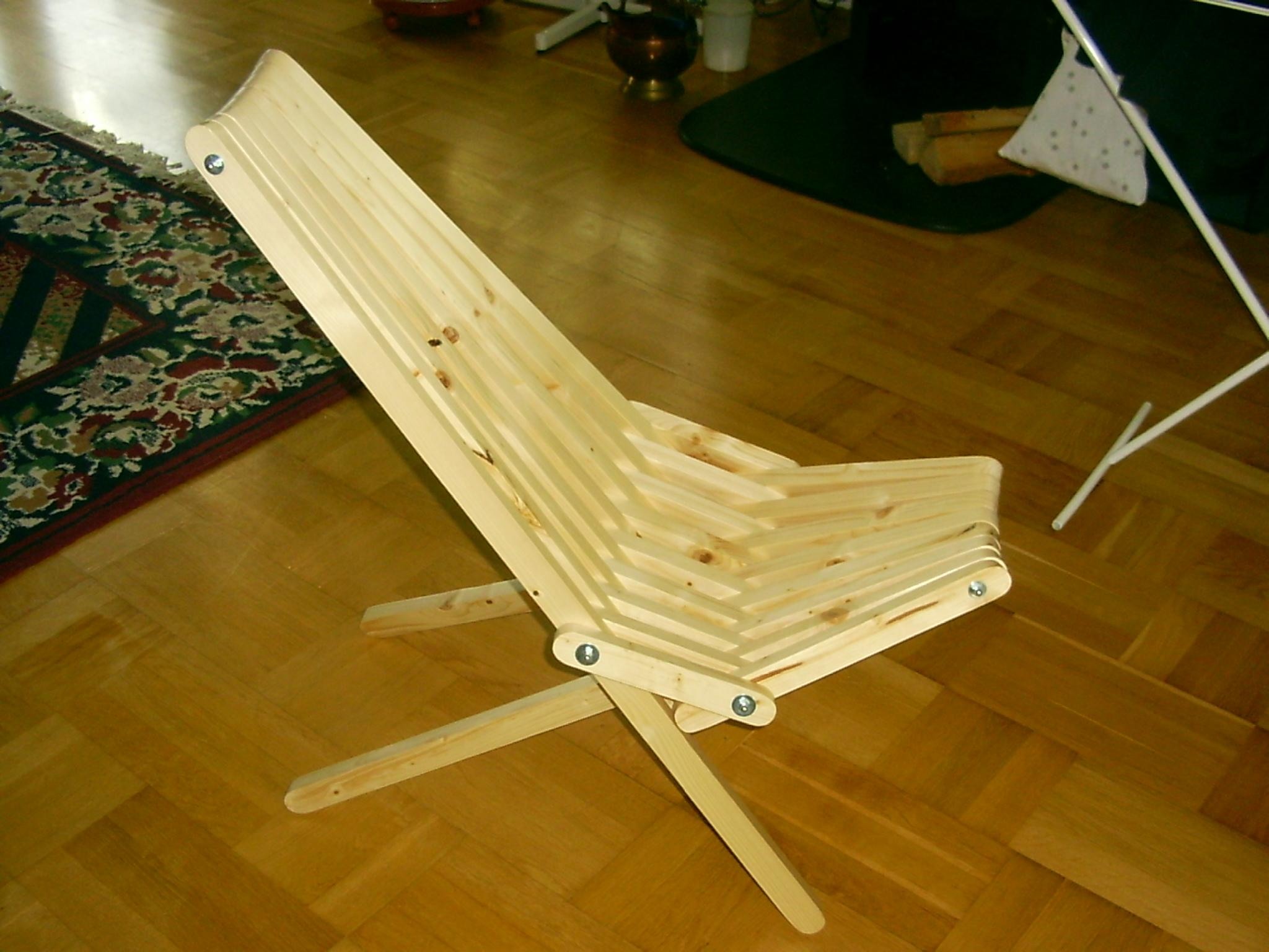 Кресло складное сделать своими руками