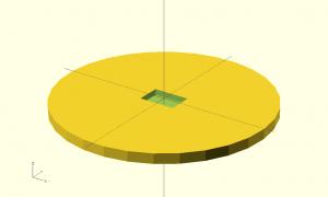 Cylinder minus box