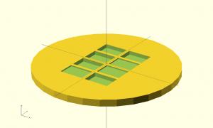 Cylinder minus holes