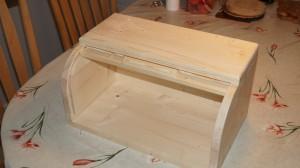 Roll top bread box - open