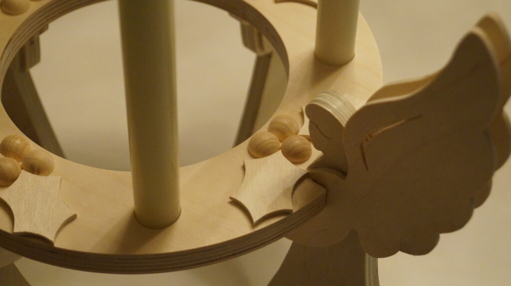 Details from the wooden advent wreath